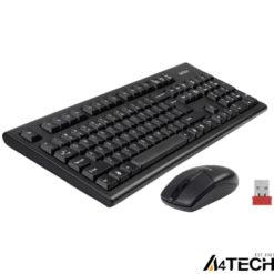 A4 Tech 3100N Q Kablosuz Klavye Mouse Set Siyah