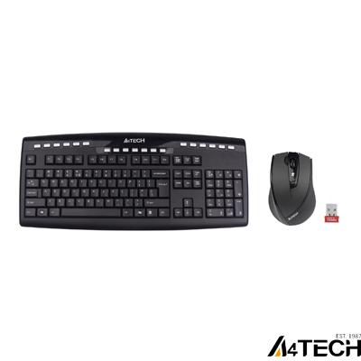 A4 Tech 9200F Q Kablosuz MM vTrack Mouse Set Siyah