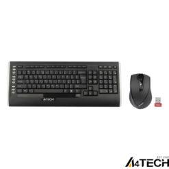 A4 Tech 9300F F Kablosuz MM vTrack Mouse Set Siyah