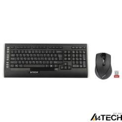 A4 Tech 9300F Q Kablosuz MM vTrack Mouse Set Siyah
