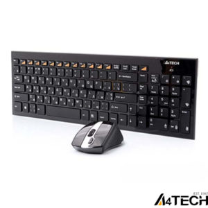 A4 Tech 9500F Q Kablosuz MM vTrack Mouse Set Siyah