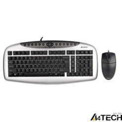 A4 Tech KB-2150D Klavye Mouse Set Gümüş USB