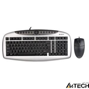 A4 Tech KB-21620D Klavye Mouse Set / Siyah / PS2