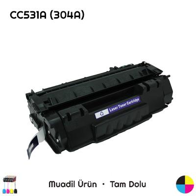 HP CC531A (304A) Mavi Muadil Toner