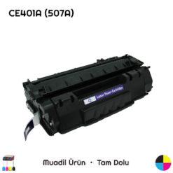 HP CE401A (507A) Mavi Muadil Toner