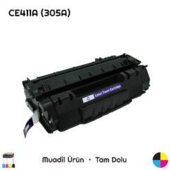 HP CE411A (305A) Mavi Muadil Toner