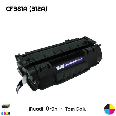 HP CF381A (312A) Mavi Muadil Toner