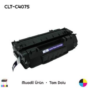 Samsung CLT-C407S Mavi Muadil Toner
