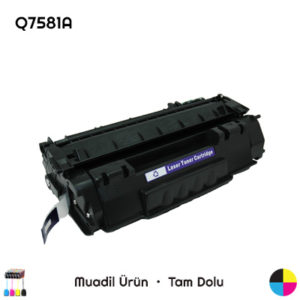HP Q7581A Mavi Muadil Toner