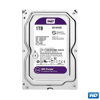 """WD 1TB Purple 3,5"""" 64MB SATA 3 7/24 Disk WD10PURZ"""