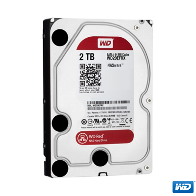 """WD 2TB Red 3,5"""" 64MB Intellipower SATA 3 WD20EFRX"""