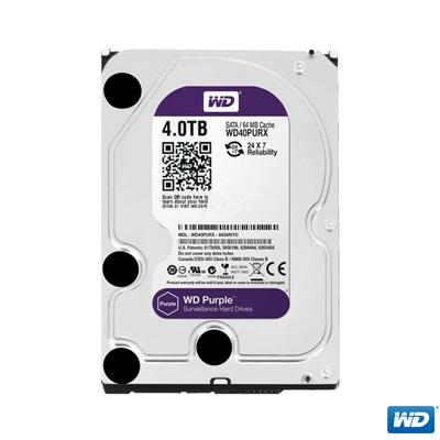 """WD 4TB Purple 3,5"""" 64MB SATA 3 7/24 Disk WD40PURZ"""