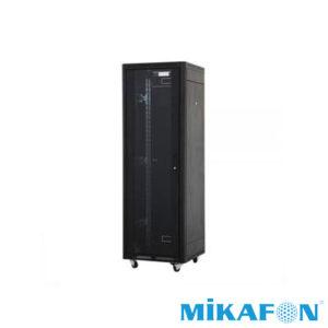 Mikafon 26U Rack Kabin Kilitli Camlı Tekerlekli