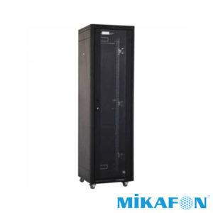 Mikafon 42U Rack Kabin Kilitli Camlı Tekerlekli