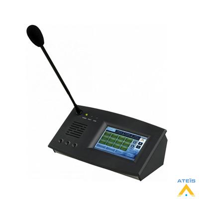 Ateis PPM IT5 Full Renkli Dokunmatik Ekranlı Anons Mikrofonu