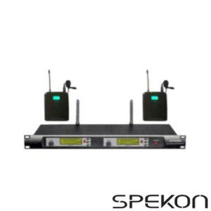 Spekon Solo-1000 İkili Telsiz Yaka Mikrofonu