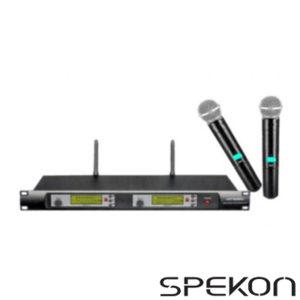 Spekon Solo-2000 İkili Telsiz EL Mikrofonu