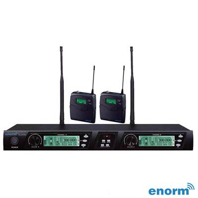 Enorm VOCAL 1000 İkili Yaka Tipi PLL Kablosuz Mikrofon Seti
