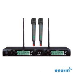 Enorm VOCAL 2000 İkili El Tipi PLL Kablosuz Mikrofon Seti