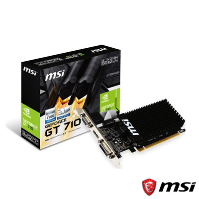 MSI GT710 2GD3H LP 2GB 64Bit DDR3 (LP) Low Profile