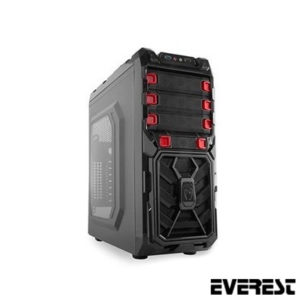 Everest Rampage 79 Mid Tower Kasa/Pencereli Siyah