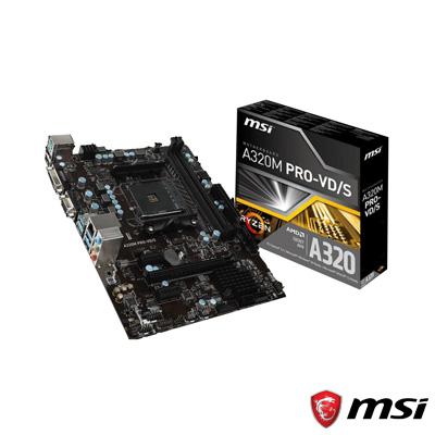 MSI A320M PRO-VD/S MB DDR4 S+V+GL AM4 (mATX)