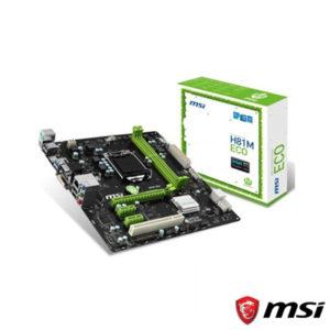 MSI H81M ECO DDR3 1600MHz S+V+GL 1150p (mATX)